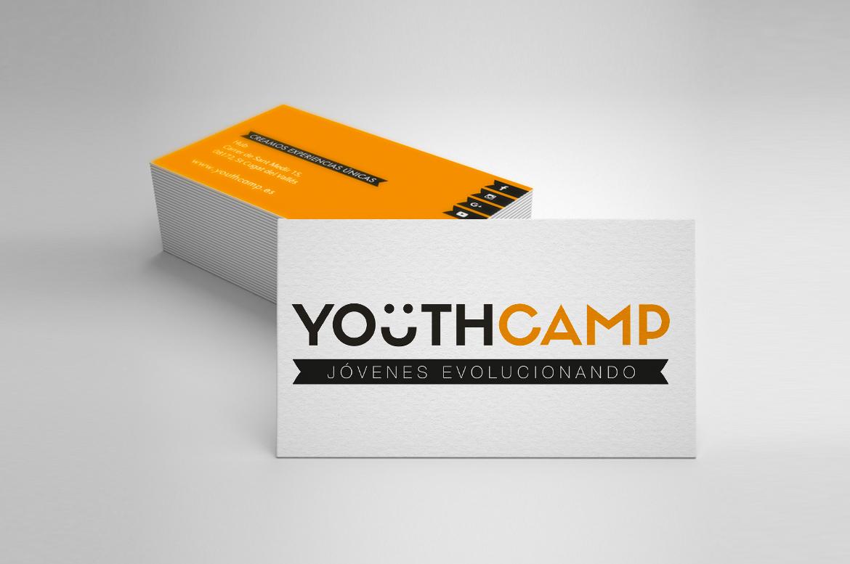 diseño tarjetas youtcamp